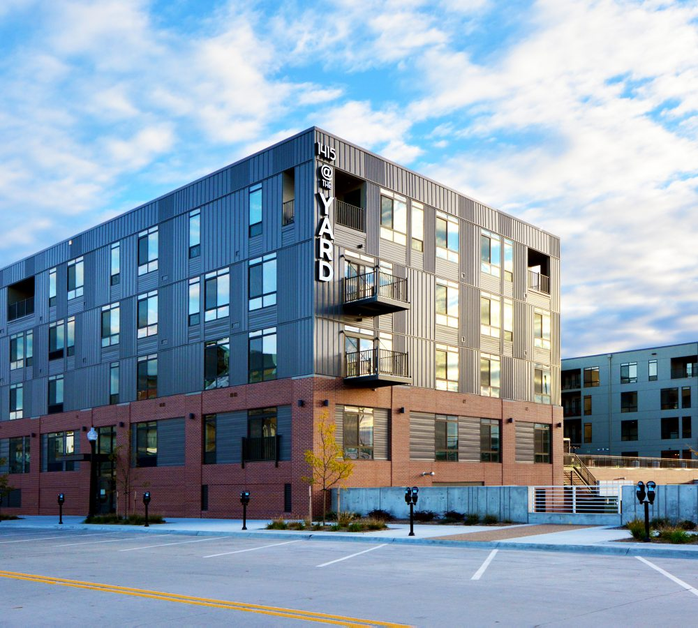 Exterior view of 1415 @ the Yard from the parking lot