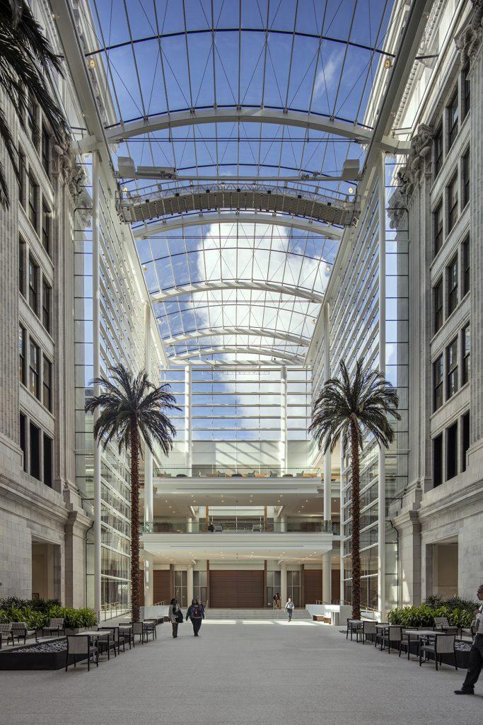 Interior of the Northwestern Mutual Headquarters' atrium