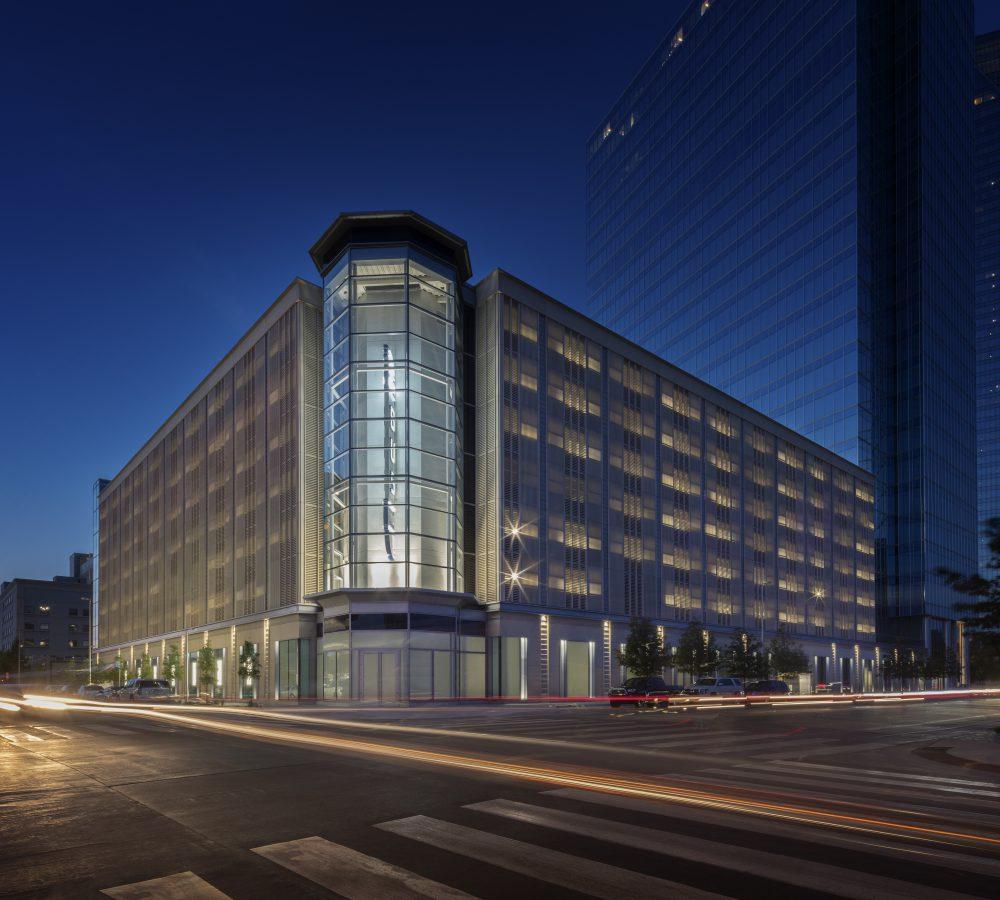 Bank of Oklahoma at 499 Sheridan West Parking Garage Exterior