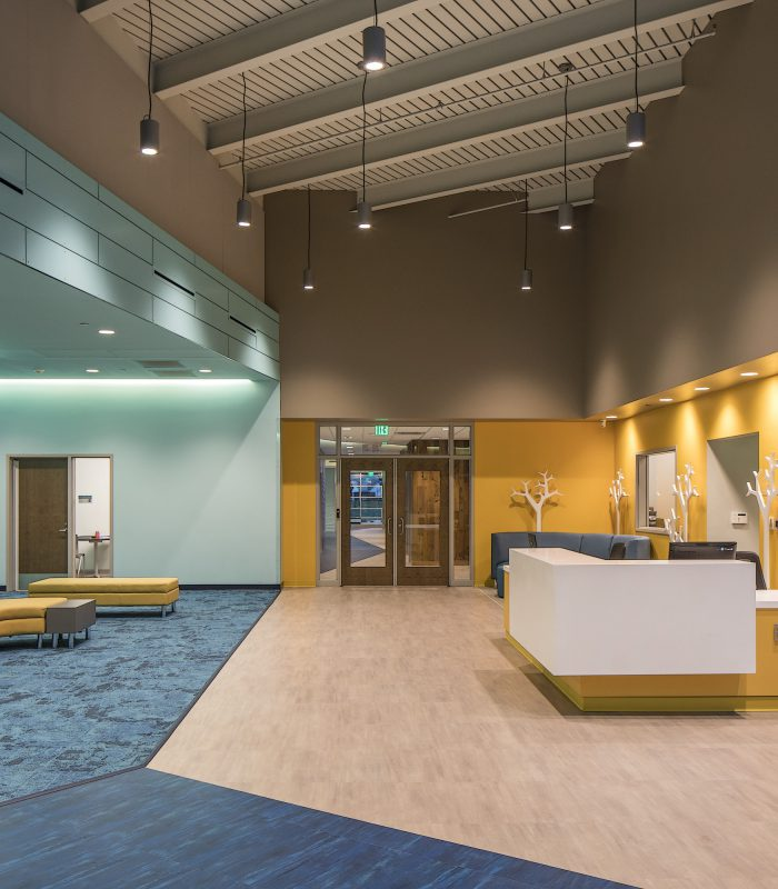 Lobby at Porter Leath Early Childhood Academy