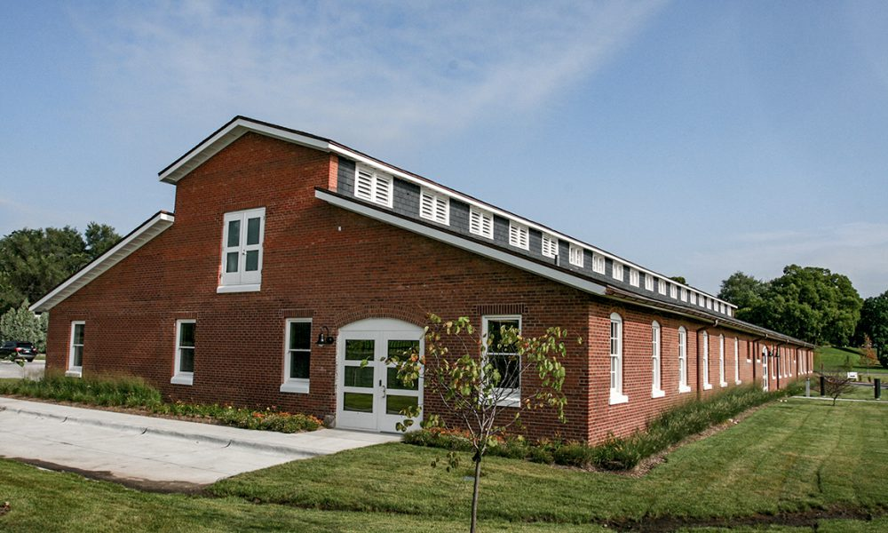Exterior view of the Mule Barn located on the MCC campus