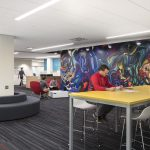 View of a study lounge at the UNO Milo Bail Student Center
