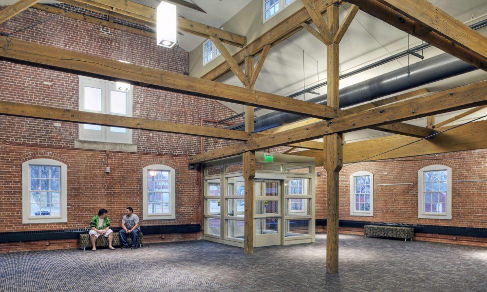 Interior view of the Mule Barn at Metropolitan Community College.