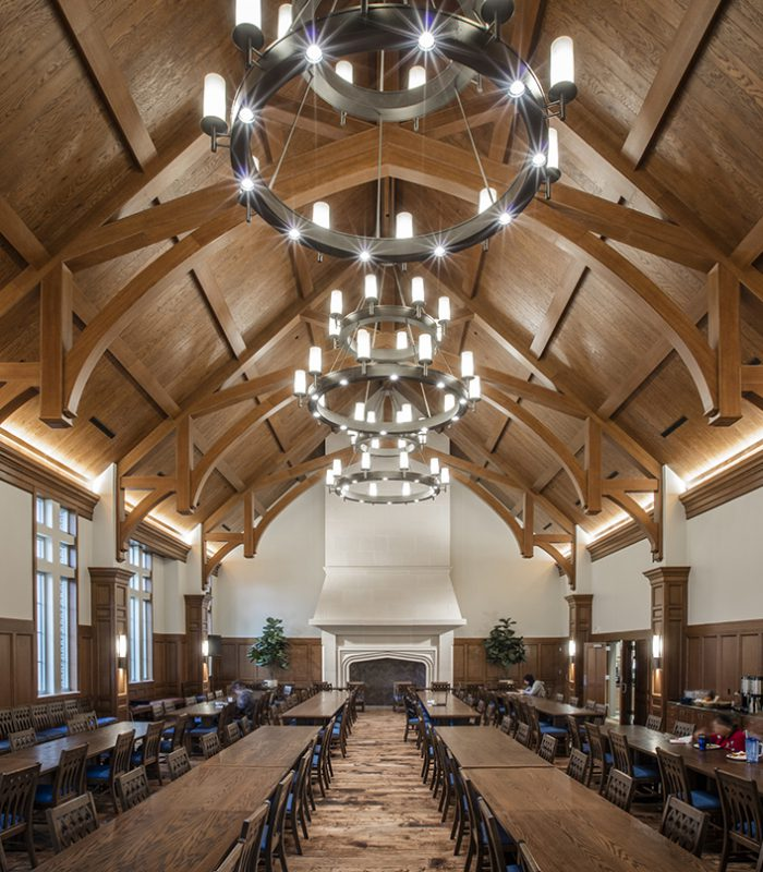 View of the OU Dunham & Headington Residential Colleges Dining Hall