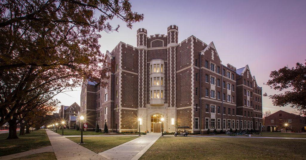 Exterior view of the OU Dunham & Headington Residential Colleges