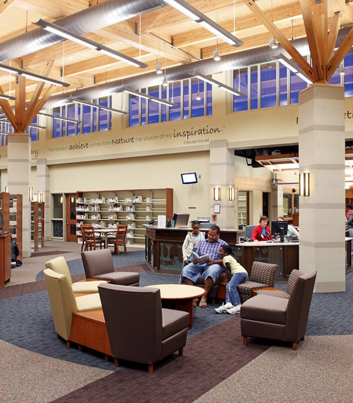View of the Saddlebrook Joint-Use Facility Library Interior