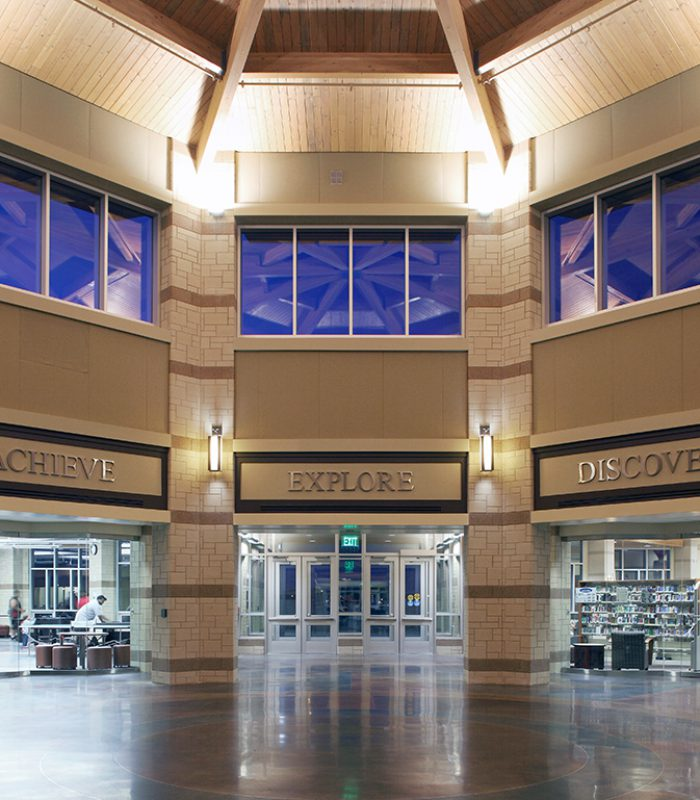 View of the Interior Saddlebrook Joint-Use Facility Rotunda