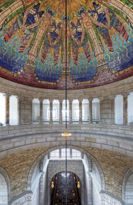View of the rotunda inside the Nebraska State Capitol building