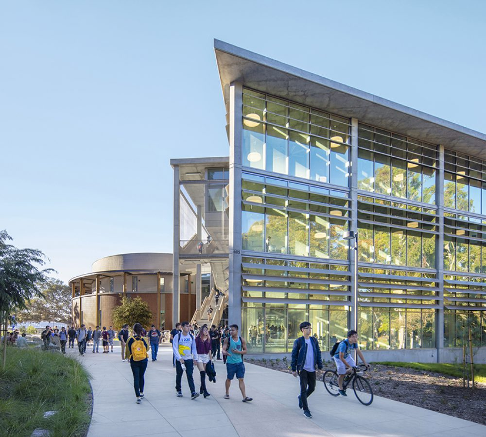 Exterior view of the UCI Anteater Learning Pavilion