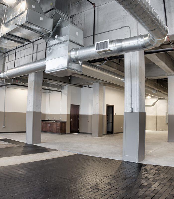 View of a tenant space at the Santa Fe Terminal in Oklahoma City