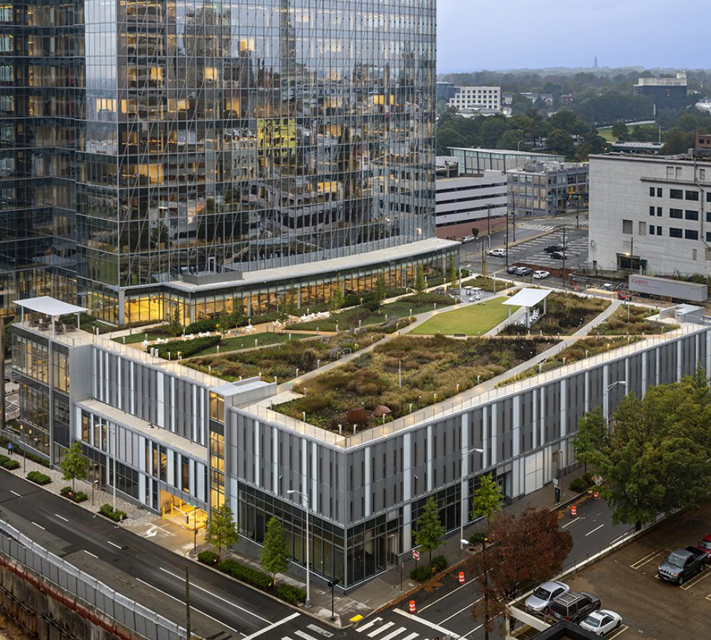 Exterior view of the 600 Canal Place Green Roof