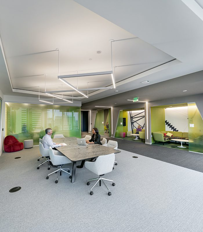 Interior view of meeting rooms at 600 Canal Place
