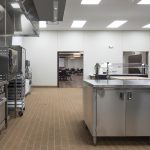 View inside the kitchen at the Irving Community Center in Ada