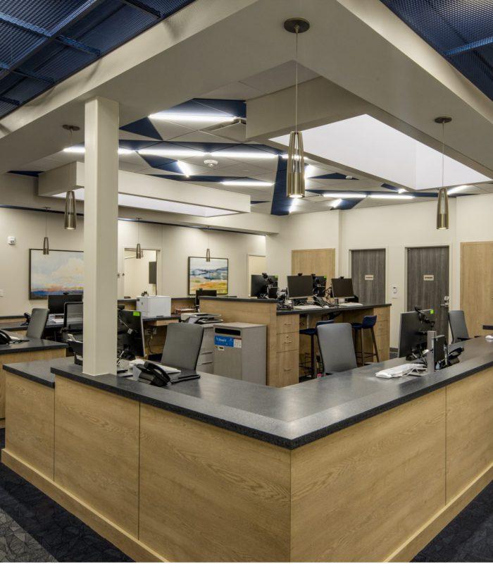 Interior view of SSM Shawnee Ambulatory Care Center corridor