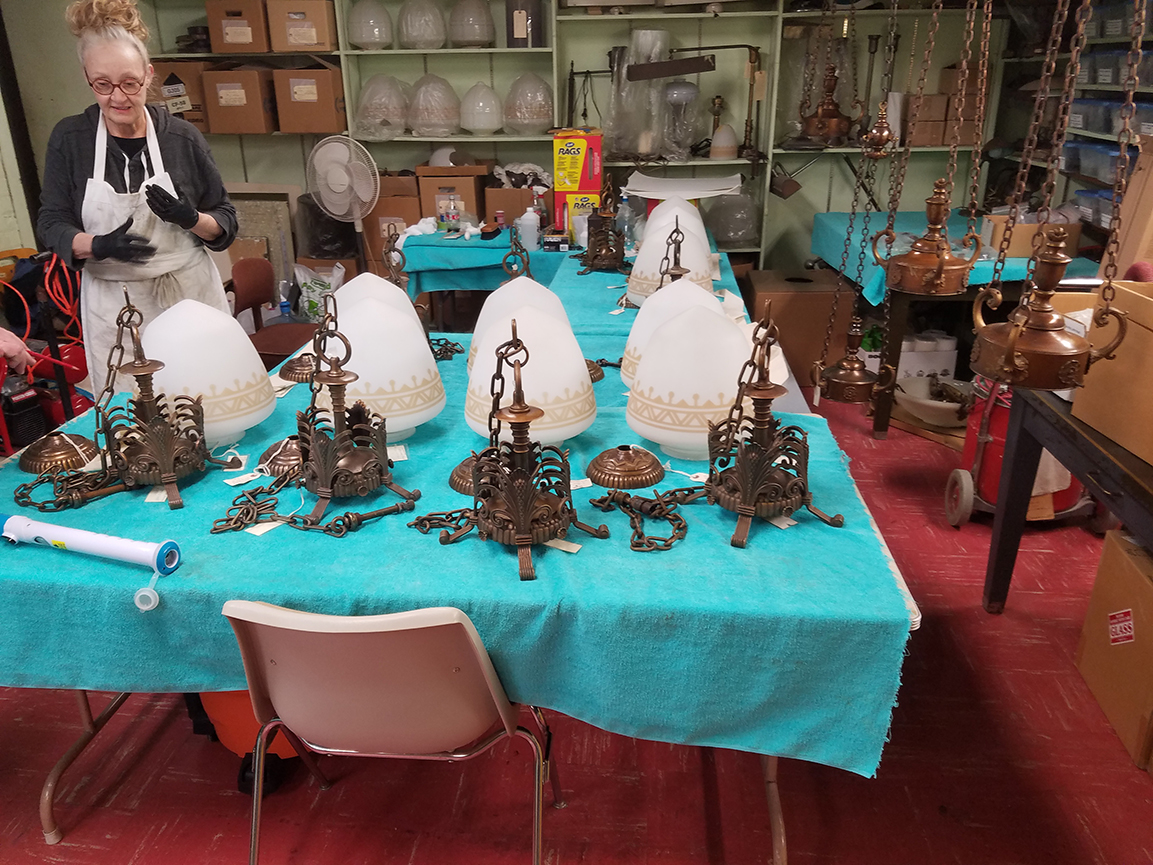 Cleaning Historic Light Fixtures
